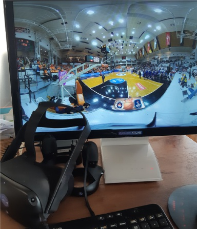 VR/360 live video player of Basketball match for Turk Telekome operator